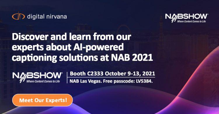 Digital Nirvana at NAB 2021